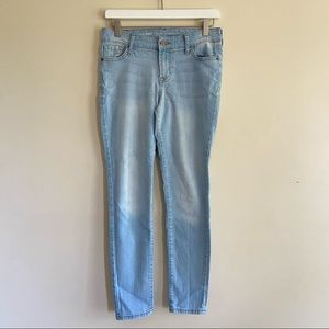 OLD NAVY Mid-Rise Light Wash Skinny Jeans 4 Petite